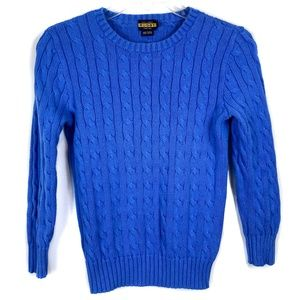 Ralph Lauren Rugby Blue Cable Knit Sweater Size S